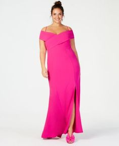 Wedding guest dress Plus Size Portrait-Collar Scuba Gown for women. Plus Size Dresses, Plus Size Outfits, Daytime Dresses, Formal Dresses, Dresser, Portrait, Plus Size Kleidung, Prom, Gowns Online