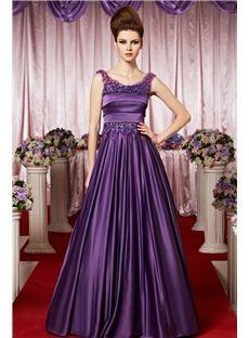 Elegent Scoop Beading Floor-length A-line Evening Dress
