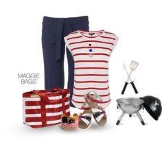 """""""4th of July BBQ"""" by maggiebags on Polyvore"""