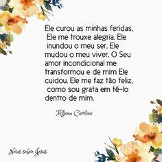 """51 curtidas, 3 comentários - Millena Caroline  (@notassobrejesus_) no Instagram: """"Ah, Jesus...❤ #amor #fé #paz #gratidão #jesus #sorriso #sobreela #instapoesia #instafrases…"""""""