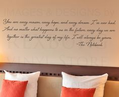 Wall Decal Quote Sticker Vinyl Art Letter Your Are Every Reason The Notebook L75 | eBay
