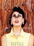 Barney's New York S/S 1993 Photographer : Steven Meisel Model : Linda Evangelista Steven Meisel, Linda Evangelista, Illuminati, Magazine Vogue, Tamara, Pin Up, Butterfly Kisses, Madame Butterfly, Monarch Butterfly