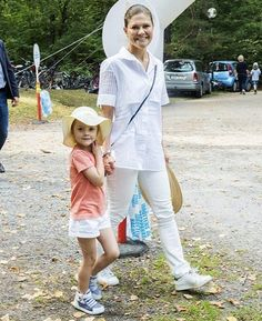 Princess Victoria and Princess Estelle visited the Haga Park