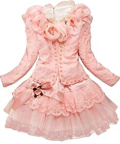 Baby Girls 3 Piece Cardigan Clothes Kids TuTu Dress Outfit Clothing 23 Years Light Pink >>> You can find more details by visiting the image link.