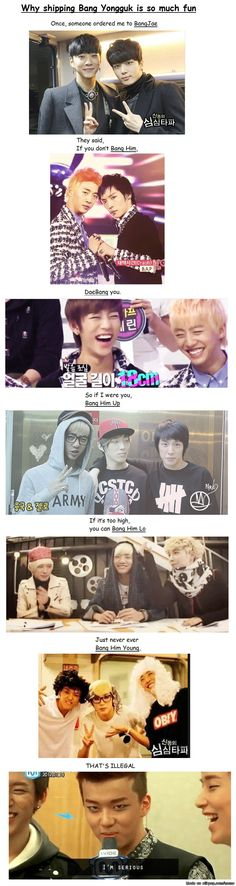 Bang Yongguk ship names... XD / I'M ROLLING ALL OVER THE FLOOR BECAUSE OF LAUGHING