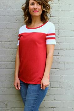 Vintage Jersey T- Red
