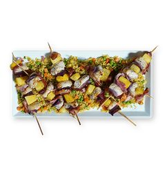 Chicken and Pineapple Kabobs - Sanderson Farms Kabob Recipes, Chicken Salad Recipes, Grilled Recipes, Party Recipes, Turkey Recipes, Pineapple Chicken Kabobs, Chicken And Brown Rice, Smoky Bacon