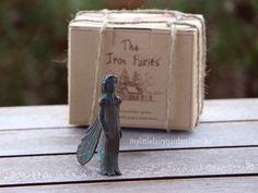 Asria - The Iron Fairies My Little Fairy Garden Fairies Garden, Garden Ideas, Fairy, Iron, Landscaping Ideas, Backyard Ideas, Fairy Gardening, Steel, Angel