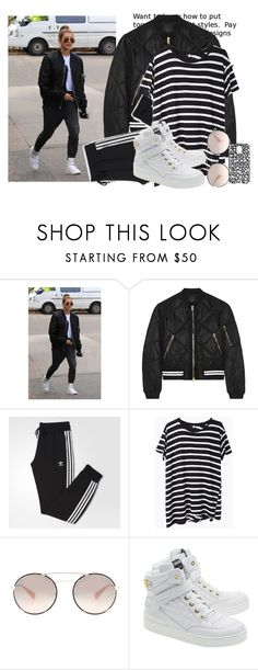 """A Lesson in Sporty Street Style"" by hattie4palmerstone ❤ liked on Polyvore featuring rag & bone, adidas, R13, Prada, Moschino, Marc by Marc Jacobs and ragandbone"