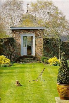 Photo Of A Garden Folly At Hidcote Manor Gardens Nr Chipping
