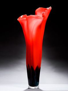 Poppy Vase - by Peter Layton of London Glassblowing