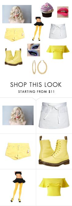 """""""FNAF~Chica~"""" by musiclizard ❤ liked on Polyvore featuring Chef Works, 7 For All Mankind, Dr. Martens, Leg Avenue, Miss Selfridge and Fragments"""