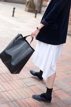 JNBY / street style for spring & summer /white dress /detail