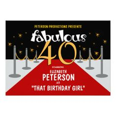1000 images about 40 fabulous on pinterest for Film premiere invitation template