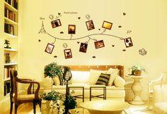 ufengke® Muro Farfalle Vite Creativo Fiore Foto Adesivi Murali ...