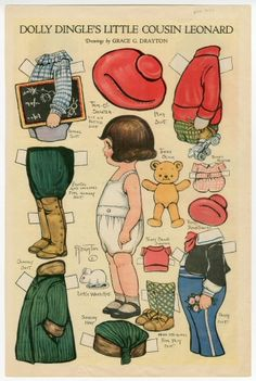 81.665: Dolly Dingle's Little Cousin Leonard | paper doll | Paper Dolls | Dolls | National Museum of Play Online Collections | The Strong
