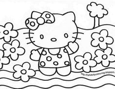 Coloring Pages Hello Kitty Cute Collections