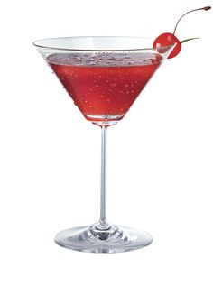 Rouge Martini   (1 part(s) Pinnacle Blueberry Vodka  1 part(s) Pinnacle Pomegranate Vodka  2 part(s) cranberry juice  ½ part(s) fresh squeezed lime juice)