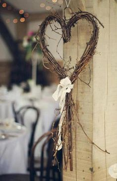 My heart is for you. Another simple decor idea for chairs or just around the room. Wandhaken Shine On Your Wedding Day With These Breath-Taking Rustic Wedding Ideas! – Page 2 of 2 – Cute DIY Projects wedding decor diy Wedding Wreaths, Wedding Flowers, Wedding Decorations, Romantic Decorations, Heart Decorations, Valentine Decorations, Diy Wedding Crafts, On Your Wedding Day, Dream Wedding