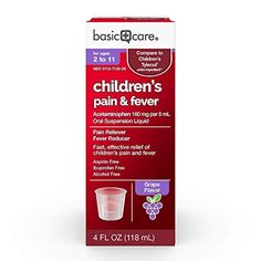 Primary Care Acetaminophen Kids's Ache Reliever Oral Suspension Liquid, four Ounce Aspirin, Primary Care, Sore Throat, Alcohol Free, Active Ingredient, Medicine, Medical