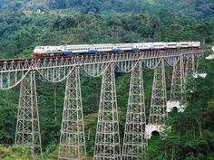 Bridge located at Sasaksaat Village in Bandung, Indonesia