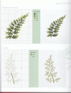 ru / Фото - Veronique Enginger LHerbier du jardin au point d - Cross Stitching, Cross Stitch Embroidery, Cross Stitch Patterns, Fern Plant, Cross Stitch Flowers, Beading Patterns, Needlepoint, Needlework, Diy And Crafts