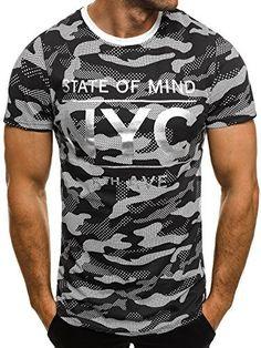OZONEE Herren T-Shirt mit Motiv Kurzarm Rundhals Figurbetont J.STYLE SS029: Amazon.de: Bekleidung