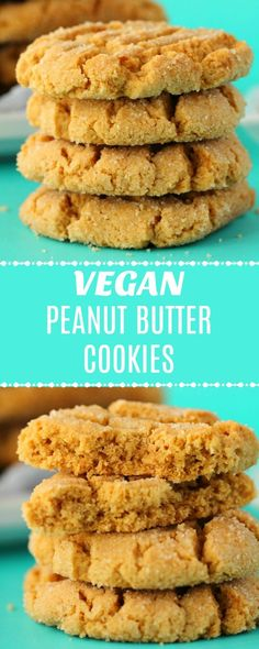 Quick and easy vegan peanut butter cookies that are wonderfully crunchy, sweet, peanut-buttery and satisfying. A perfect dessert or filling snack! | lovingitvegan.com