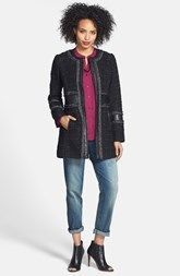 Laundry by Shelli Segal Tweed Coat, Halogen® Blouse & KUT from the Kloth Jeans
