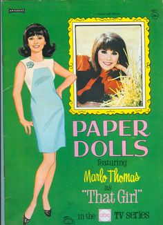 Vintage Marlo Thomas That Girl Paper Dolls 1967 Uncut