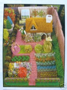 The knitted farm is cute. It's from a book I someday will buy.