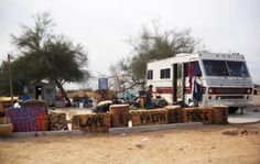 Slab City is an informal community in the California desert on the site of a former WWII artillery range. The recent recession has sent the ...