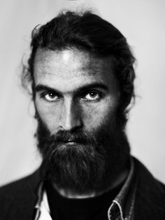 A man doesn't grow a beard... A beard grows a man.