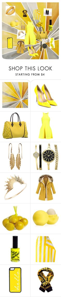 """""""Yellow is strippin!.....🎗👑"""" by fashionistagirly321 ❤ liked on Polyvore featuring interior, interiors, interior design, home, home decor, interior decorating, Intelligent Design, Gianvito Rossi, Louis Vuitton and Elizabeth and James"""