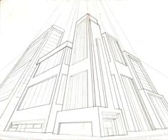 3point perspective city by greyfoxdie85