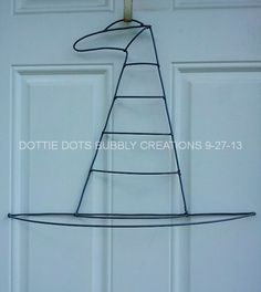 This is a custom candy cane wire wreath form. When wreath form is not assembled it measures approximately 13 W X 24 H, when fully assembled it measures x 26 H. This is a Dottie Dots Original Wire Form, Often imitated but never duplicated. Wreath Crafts, Diy Wreath, Wreath Ideas, Deco Mesh Wreaths, Holiday Wreaths, Door Wreaths, Halloween Deco Mesh, Halloween Wreaths, Halloween Witches