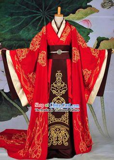 Ancient Chinese Han Empress Phoenix Hanfu Wedding Dress Complete Set