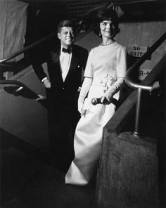 The President & First lady arrive at the Inaugural Gala. January 19, 1961