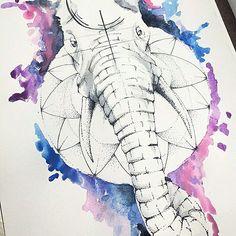 Como eu havia dito anteriormente, escolherá alguém para ganhar uma tatuagem no valor de R$ 700,00! O desenho é esse! E foi feito na coxa! Simplesmente ficou incrível! . . Contatos e agendamentos por inbox ou pelo tel (24)999380805 . . #happybirthday #pontilhismo #aquarela #elefante #elephants #elefantetattoo #criação #única #mandala #tattoo #tattooart #tattooed #roomtattoo #obrigado