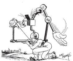 A Rube Goldberg cartoon from Collier's, December 9, 1944.