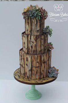 Desert Rose by BlossomBakes - http://cakesdecor.com/cakes/236903-desert-rose