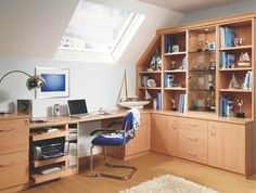 made to measure study in beech wood