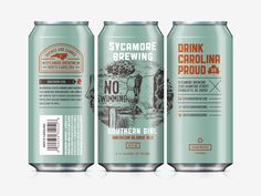 I recently teamed up with Michael Barnhart on a few can designs for Sycamore Brewing. Should be seeing a few of these puppies around the Charlotte, N.C. area in the next month or so. Super hyped!  ...