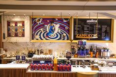 The remaining piece of Eataly's puzzle of food offerings is here: Caffé Lavazza is open. Shop Fittings, Italian Style, Liquor Cabinet, Dallas, Bakery, Photo Wall, Interior Design, Food, Costa