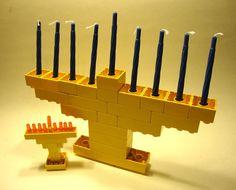 LEGO and Duplo Menorahs