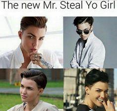 ruby rose, mr. steal yo girl