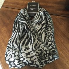 XMAS SALE  Infinity Scarf Color: silver and black. Infinity scarf. Price firm, unless bundle. Apt. 9 Accessories Scarves & Wraps