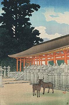 "Japanese Art Print ""The Kasuga Shrine in Nara (Nara Kasuga Jinja)"" by Kawase Hasui. Shin Hanga and Art Reproductions http://www.amazon.com/dp/B00Y2EZ1JA/ref=cm_sw_r_pi_dp_IYQvwb03Z3XDS"