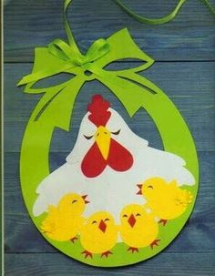 Cute Easter ideas from the paper! Kirigami chicken and rabbits for Easter ornaments and Easter cards. Easter Art, Easter Crafts For Kids, Diy For Kids, Easter Ideas, Easter Activities, Spring Activities, Diy And Crafts, Paper Crafts, Diy Ostern
