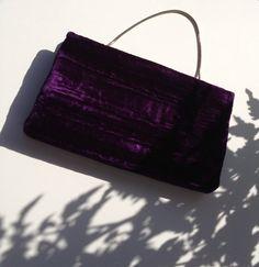 Vintage Purple Crushed Velvet Clutch by BarbeeVintage on Etsy, $15.00